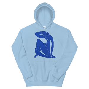 Henri Matisse Blue Nude 1952 Artwork Unisex Hoodie - Light Blue / S by Art-O-Rama