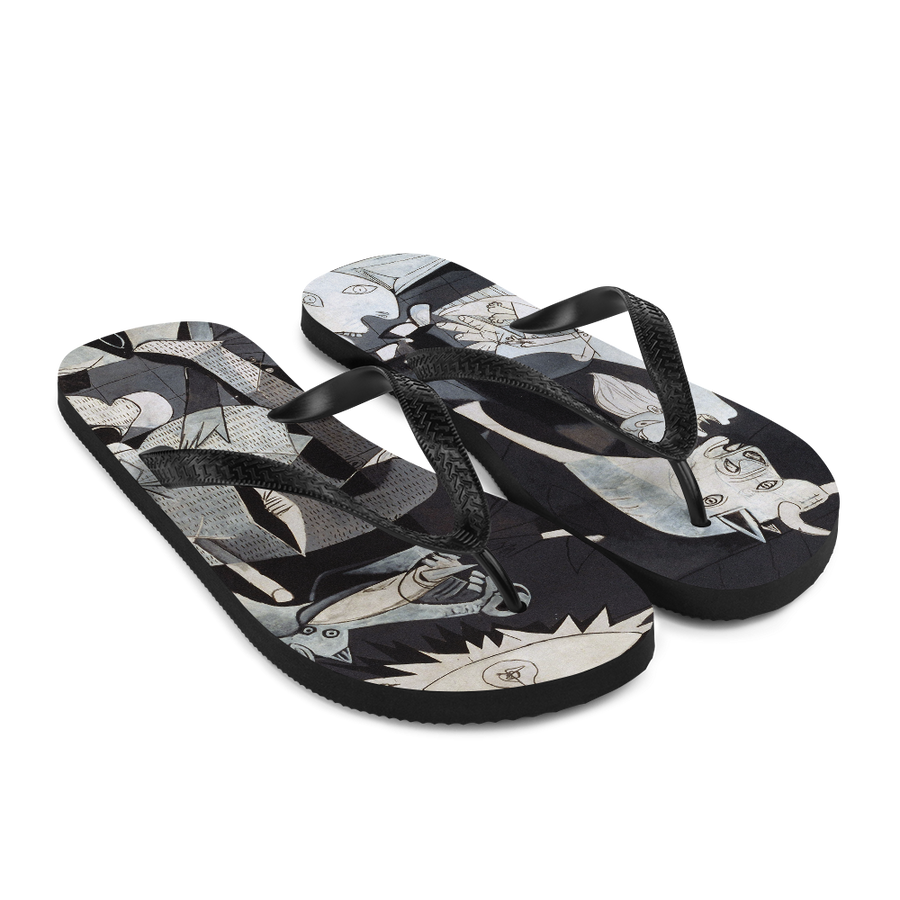 Pablo Picasso Guernica 1937 Artwork Flip-Flops - [variant_title] by Art-O-Rama
