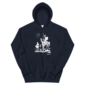Pablo Picasso Don Quixote of La Mancha 1955 Artwork Unisex Hoodie - Navy / S by Art-O-Rama