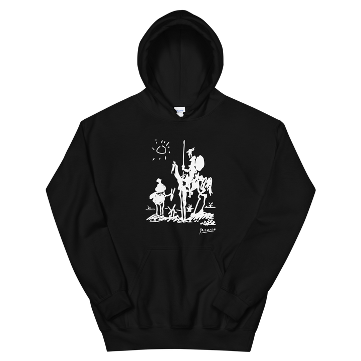 Pablo Picasso Don Quixote of La Mancha 1955 Artwork Unisex Hoodie - Black / S by Art-O-Rama