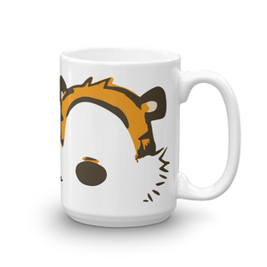 Calvin and Hobbes Faces Contour Artwork Mug - Art-O-Rama