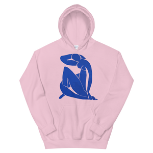 Henri Matisse Blue Nude 1952 Artwork Unisex Hoodie - Light Pink / S by Art-O-Rama