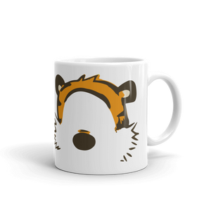 Calvin and Hobbes Faces Contour Artwork Mug - [variant_title] by Art-O-Rama