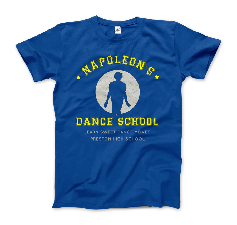Napoleon Dance School from Napoleon Dinamyte Movie T-Shirt - Men / Royal Blue / Small - T-Shirt