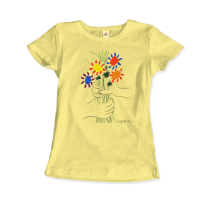 Pablo Picasso Bouquet of Peace 1958 Artwork T-Shirt - Women / Spring Yellow / Small by Art-O-Rama