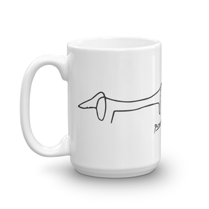Pablo Picasso Dachshund Dog (Lump) Artwork Mug - 15oz (444mL) by Art-O-Rama