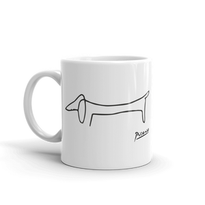 Pablo Picasso Dachshund Dog (Lump) Artwork Mug - 11oz (325mL) by Art-O-Rama