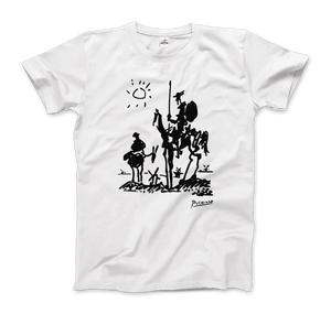 Pablo Picasso Don Quixote of La Mancha 1955 Artwork T-Shirt - Men / White / Small by Art-O-Rama