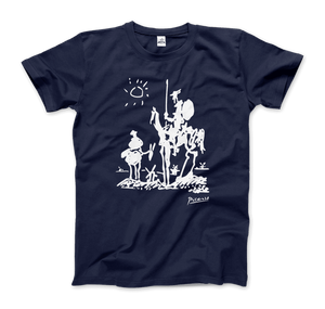 Pablo Picasso Don Quixote of La Mancha 1955 Artwork T-Shirt - Men / Navy / Small by Art-O-Rama