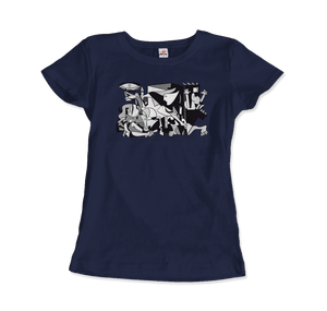 Pablo Picasso Guernica 1937 Artwork Reproduction T-Shirt - Women / Navy / Small by Art-O-Rama