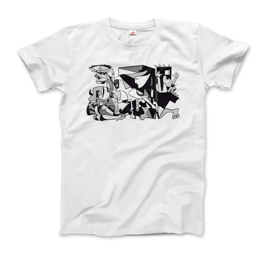 Pablo Picasso Guernica 1937 Artwork Reproduction T-Shirt - Men / White / Small by Art-O-Rama