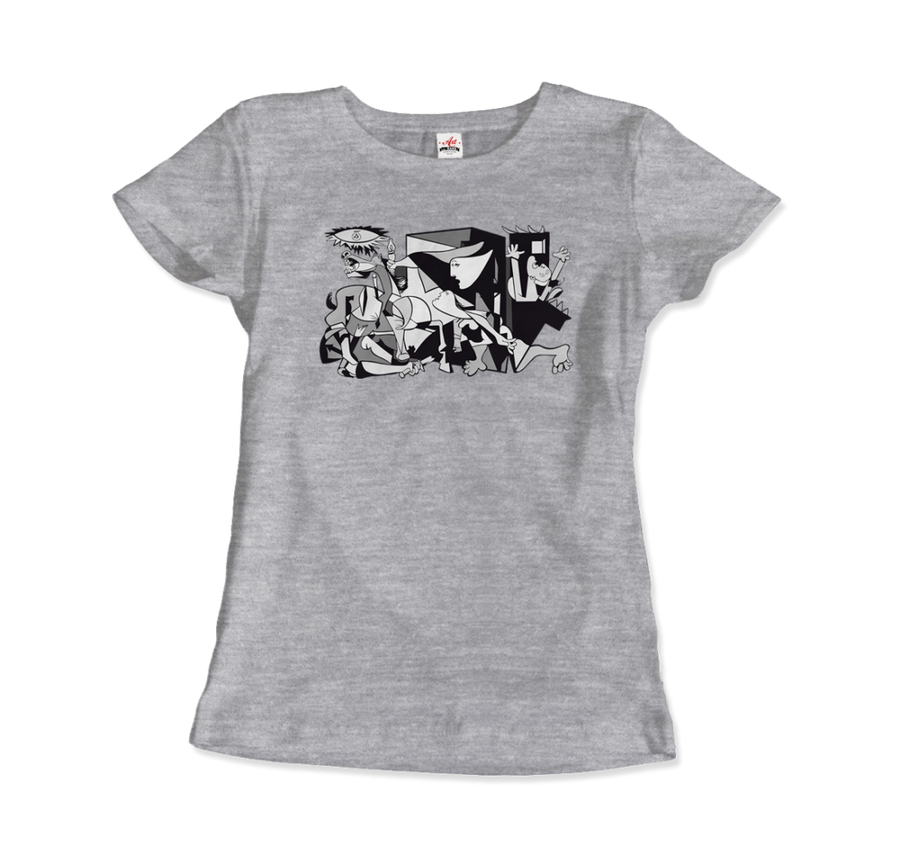 Pablo Picasso Guernica 1937 Artwork Reproduction T-Shirt - Women / Heather Grey / Small by Art-O-Rama