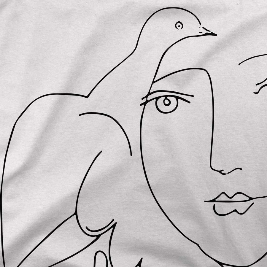 Pablo Picasso Peace (Dove and Face) Artwork T-Shirt - [variant_title] by Art-O-Rama