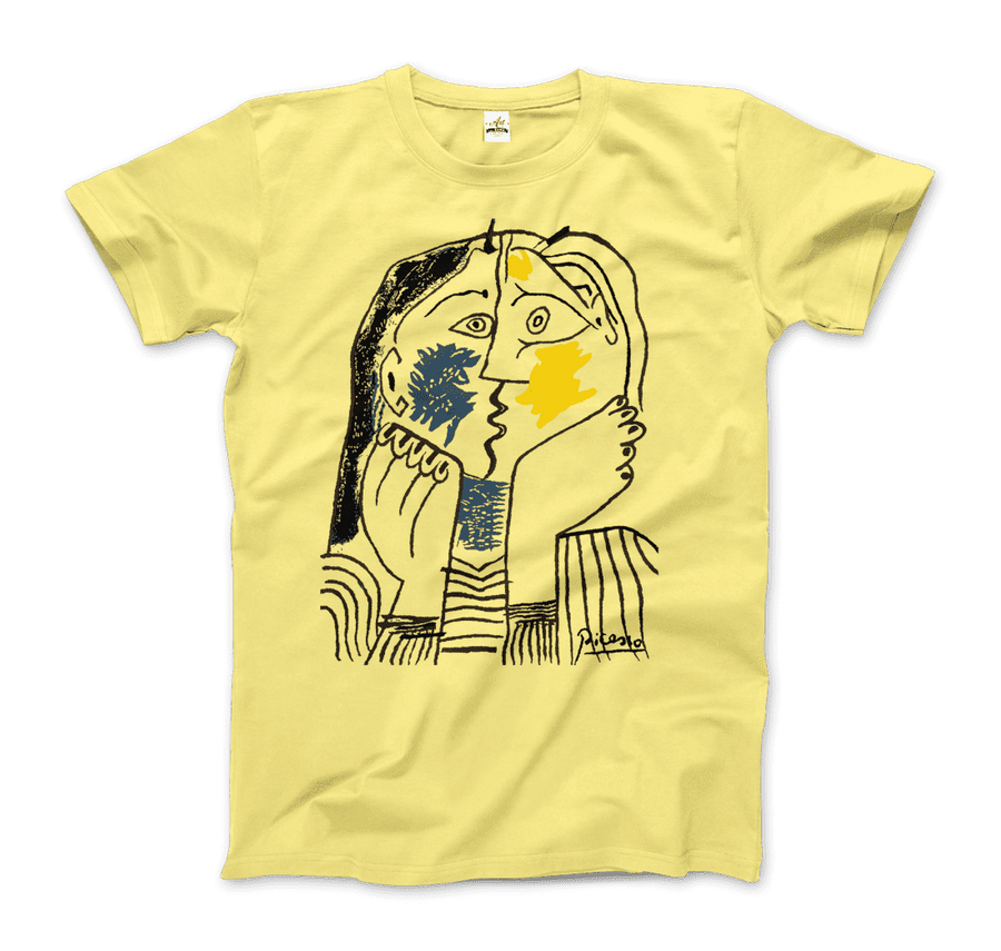 Pablo Picasso The Kiss 1979 Artwork T-Shirt - Men / Spring Yellow / Small by Art-O-Rama