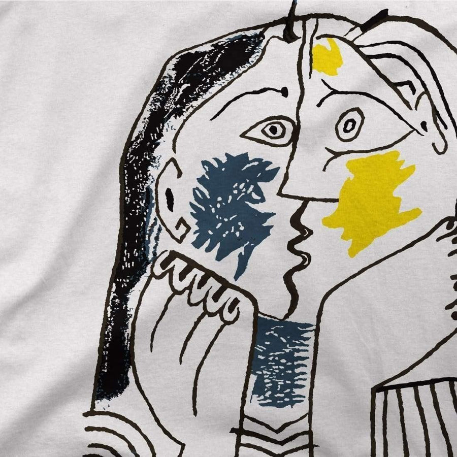 Pablo Picasso The Kiss 1979 Artwork T-Shirt - [variant_title] by Art-O-Rama