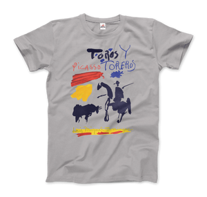 Pablo Picasso Toros y Toreros Book Cover 1961 Artwork T-Shirt - Men / Silver / Small by Art-O-Rama