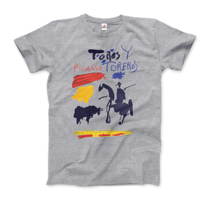 Pablo Picasso Toros y Toreros Book Cover 1961 Artwork T-Shirt - Men / Heather Grey / Small by Art-O-Rama