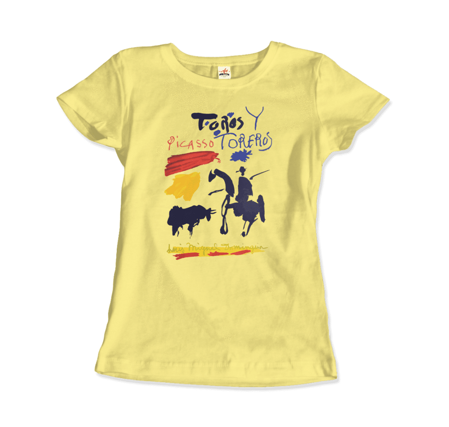 Pablo Picasso Toros y Toreros Book Cover 1961 Artwork T-Shirt - Women / Spring Yellow / Small by Art-O-Rama