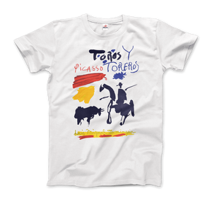 Pablo Picasso Toros y Toreros Book Cover 1961 Artwork T-Shirt - Men / White / Small by Art-O-Rama