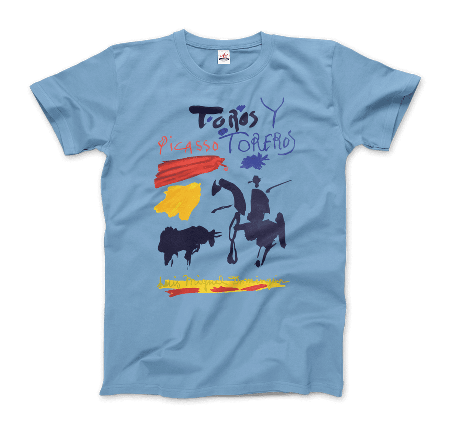 Pablo Picasso Toros y Toreros Book Cover 1961 Artwork T-Shirt - Men / Light Blue / Small by Art-O-Rama