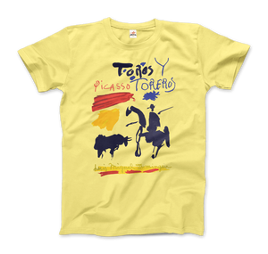 Pablo Picasso Toros y Toreros Book Cover 1961 Artwork T-Shirt - Men / Spring Yellow / Small by Art-O-Rama