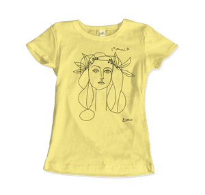 Pablo Picasso War And Peace 1952 Artwork T-Shirt - Women / Spring Yellow / Small by Art-O-Rama