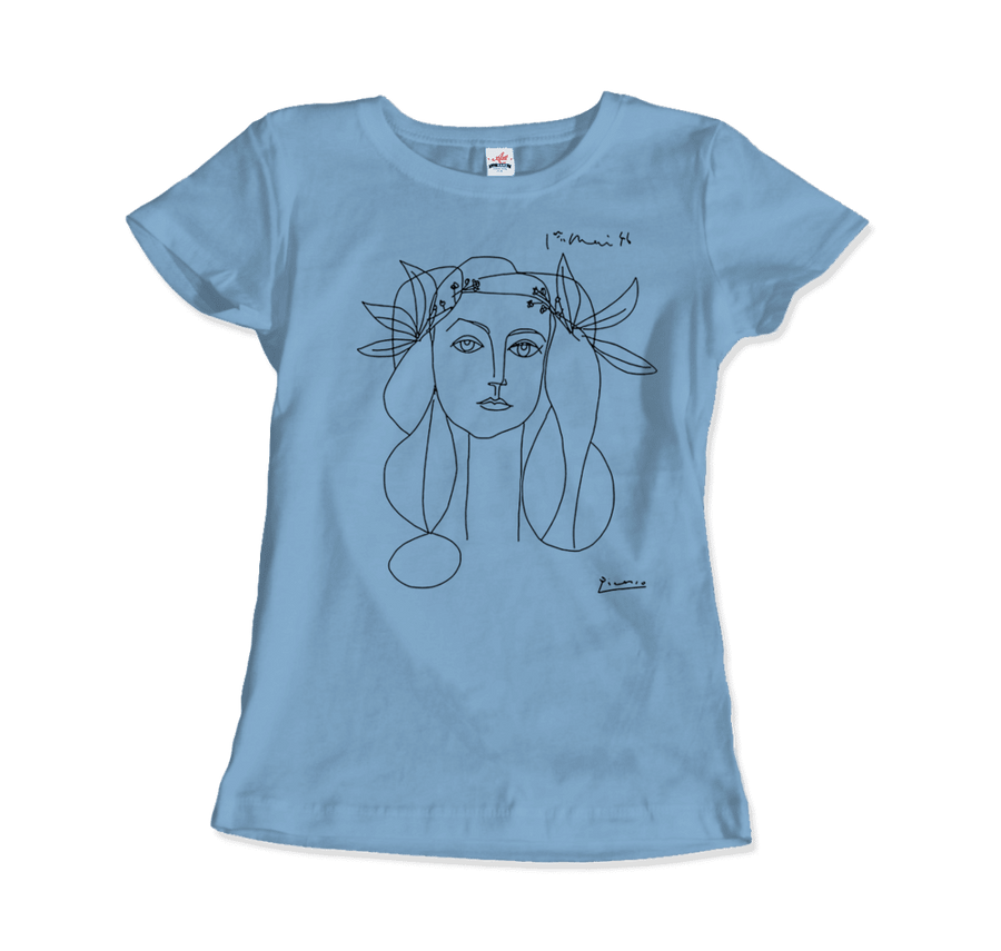 Pablo Picasso War And Peace 1952 Artwork T-Shirt - Women / Light Blue / Small by Art-O-Rama