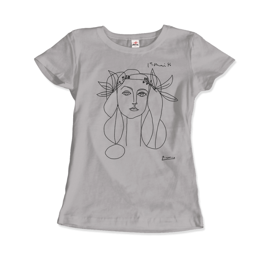 Pablo Picasso War And Peace 1952 Artwork T-Shirt - Women / Silver / Small by Art-O-Rama