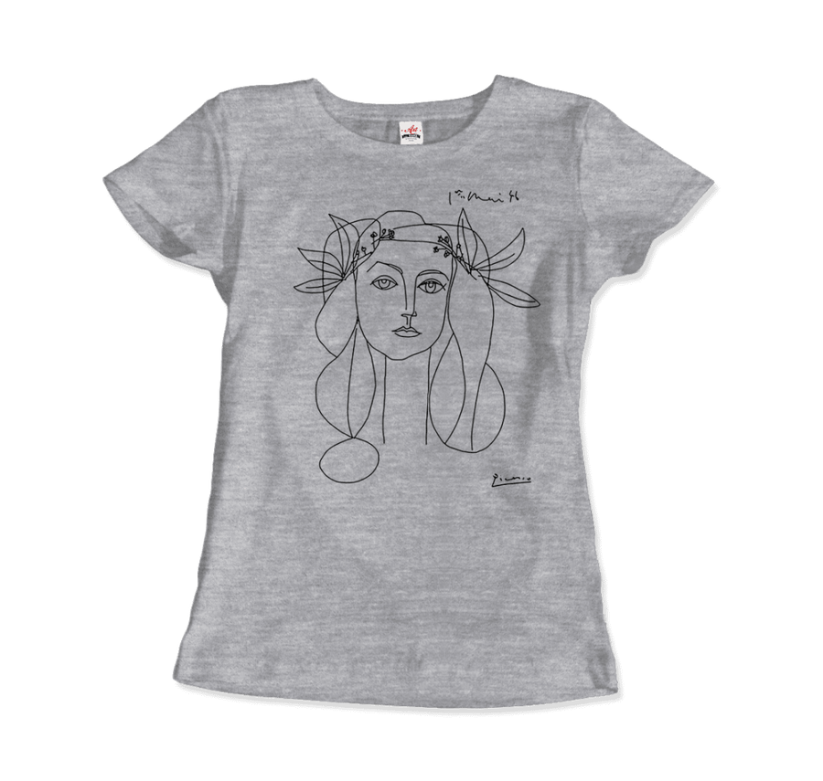 Pablo Picasso War And Peace 1952 Artwork T-Shirt - Women / Heather Grey / Small by Art-O-Rama