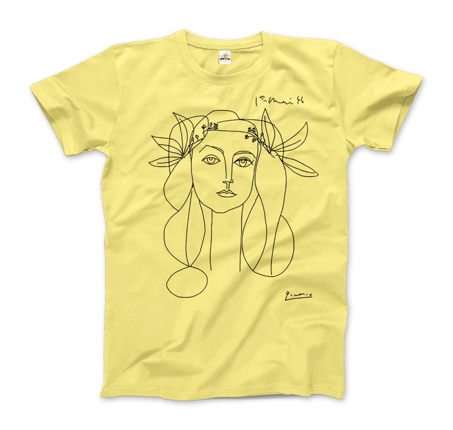 Pablo Picasso War And Peace 1952 Artwork T-Shirt - Men / Spring Yellow / Small by Art-O-Rama
