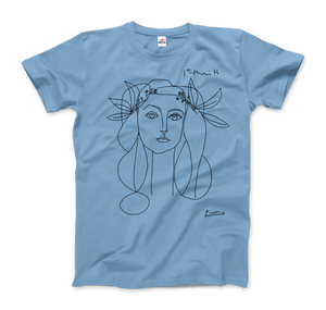 Pablo Picasso War And Peace 1952 Artwork T-Shirt - Men / Light Blue / Small by Art-O-Rama