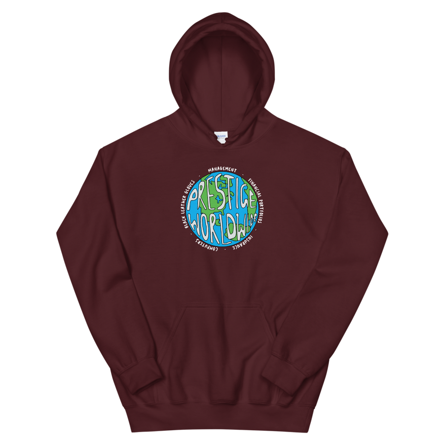 Prestige Worldwide Step Brothers Unisex Hoodie - Maroon / S by Art-O-Rama