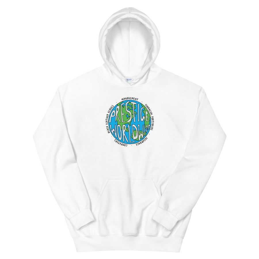 Prestige Worldwide Step Brothers Unisex Hoodie - White / S by Art-O-Rama