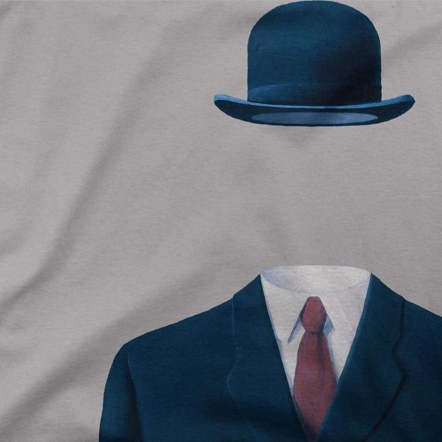 Rene Magritte Man in a Bowler Hat, 1964 Artwork T-Shirt - [variant_title] by Art-O-Rama
