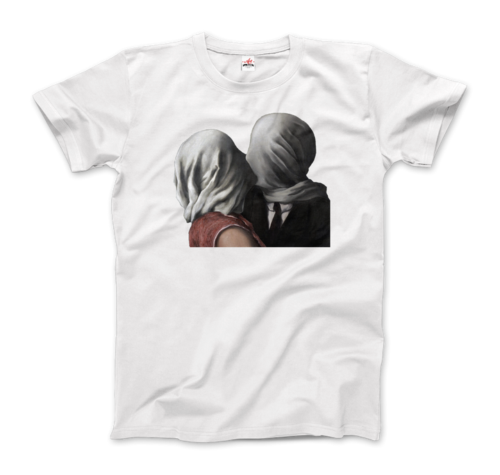 Rene Magritte The Lovers II (1928) Artwork T-Shirt - Men / White / Small by Art-O-Rama