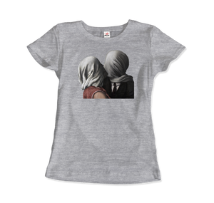 Rene Magritte The Lovers II (1928) Artwork T-Shirt - Women / Heather Grey / Small by Art-O-Rama
