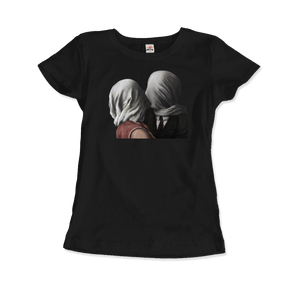 Rene Magritte The Lovers II (1928) Artwork T-Shirt - Women / Black / Small by Art-O-Rama