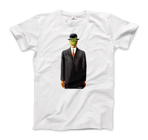 Rene Magritte The Son of Man, 1964 Artwork T-Shirt - Men / White / Small by Art-O-Rama