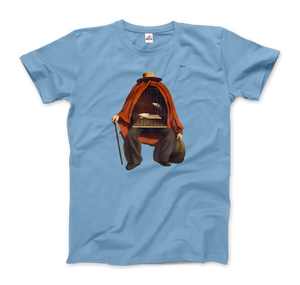 Rene Magritte The Therapist, 1937 Artwork T-Shirt - Men / Light Blue / Small by Art-O-Rama