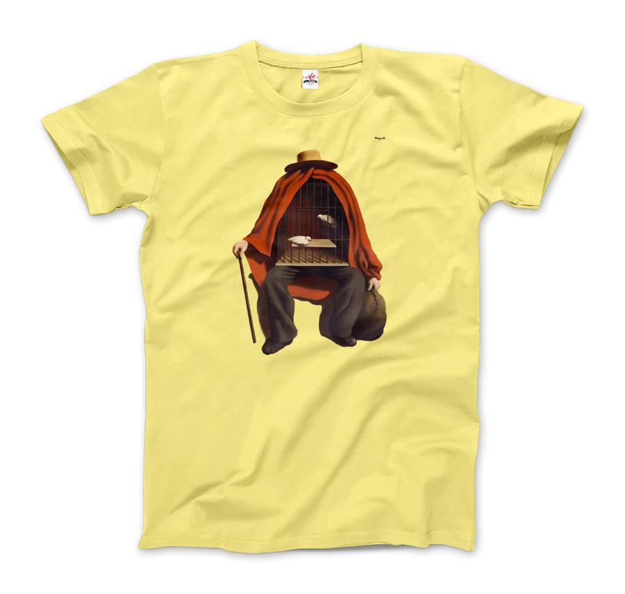 Rene Magritte The Therapist, 1937 Artwork T-Shirt - Men / Spring Yellow / Small by Art-O-Rama