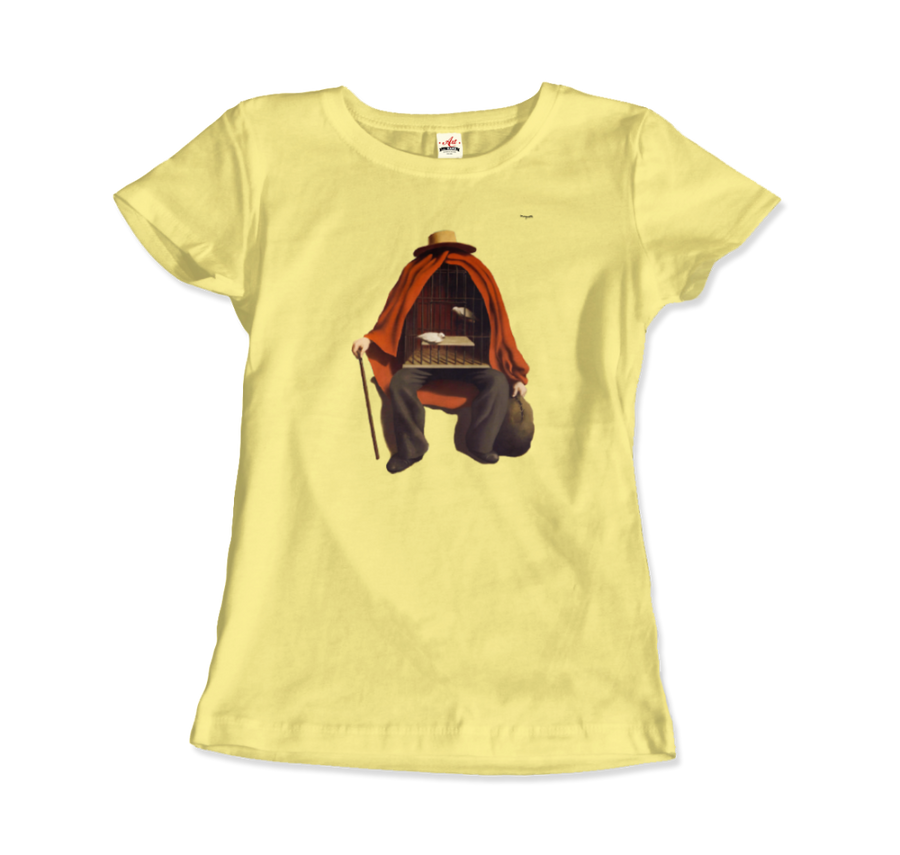Rene Magritte The Therapist, 1937 Artwork T-Shirt - Women / Spring Yellow / Small by Art-O-Rama