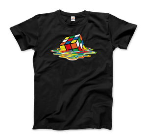Rubick's Cube Melting, Sheldon Cooper's T-Shirt - Men / Black / Small by Art-O-Rama