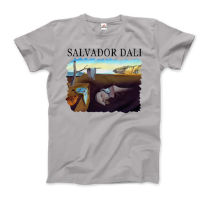 Salvador Dali The Persistence of Memory 1931 Artwork T-Shirt - Men / Silver / Small by Art-O-Rama