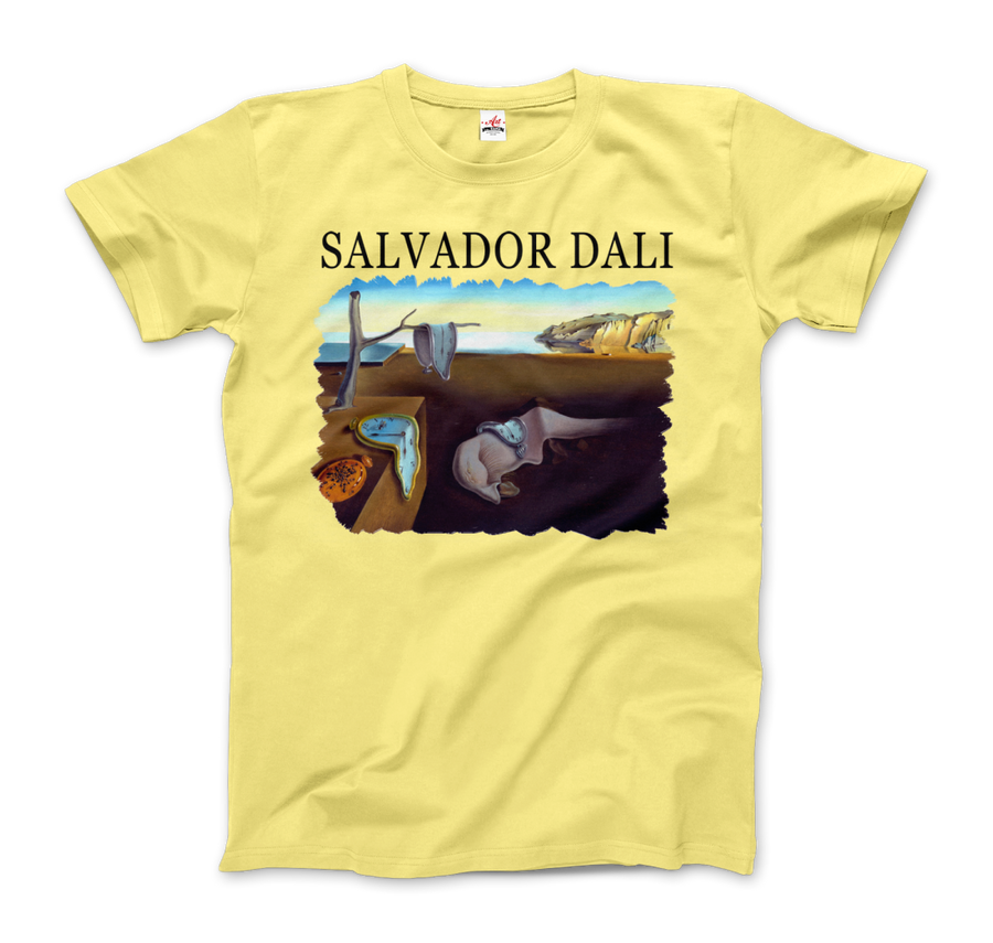 Salvador Dali The Persistence of Memory 1931 Artwork T-Shirt - Men / Spring Yellow / Small by Art-O-Rama