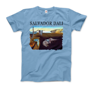 Salvador Dali The Persistence of Memory 1931 Artwork T-Shirt - Men / Light Blue / Small by Art-O-Rama
