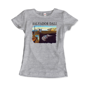 Salvador Dali The Persistence of Memory 1931 Artwork T-Shirt - Women / Heather Grey / Small by Art-O-Rama