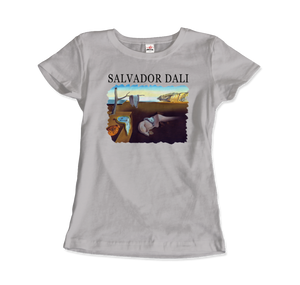 Salvador Dali The Persistence of Memory 1931 Artwork T-Shirt - Women / Silver / Small by Art-O-Rama