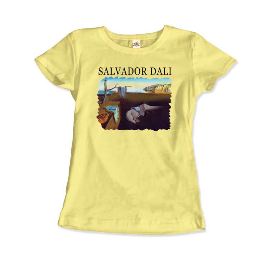 Salvador Dali The Persistence of Memory 1931 Artwork T-Shirt - Women / Spring Yellow / Small by Art-O-Rama