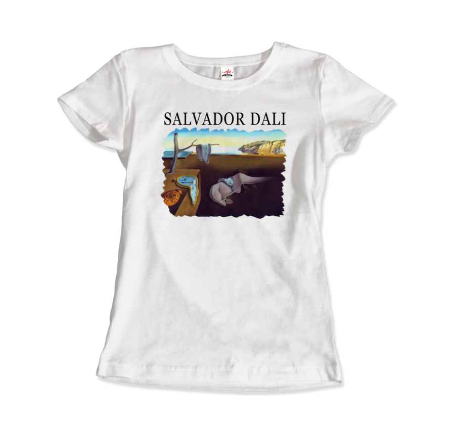 Salvador Dali The Persistence of Memory 1931 Artwork T-Shirt - Women / White / Small by Art-O-Rama