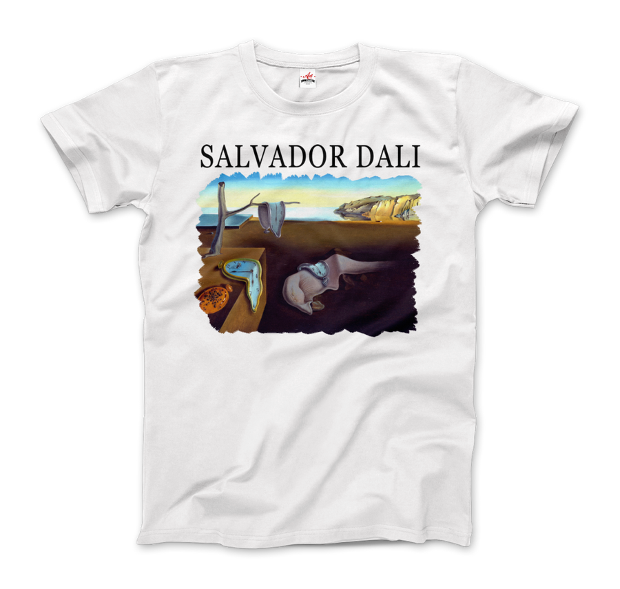 Salvador Dali The Persistence of Memory 1931 Artwork T-Shirt - Men / White / Small by Art-O-Rama